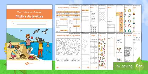 new year 2 summer themed maths activity booklet ks1 y2. Black Bedroom Furniture Sets. Home Design Ideas