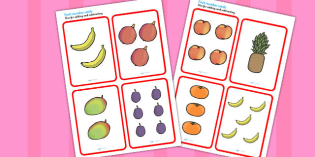 Fruit Number Cards to Support Teaching on Handa's Surprise - numbers, visual, aid, aids