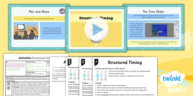 Computing: Animation: Structured Timing Year 4 Lesson Pack 4