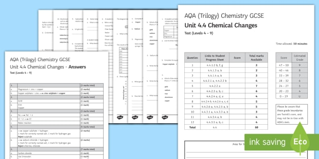 Aqa style chemistry separate unit 4 chemical changes ks4 aqa style chemistry separate unit 4 chemical changes ks4 assessment test urtaz Choice Image