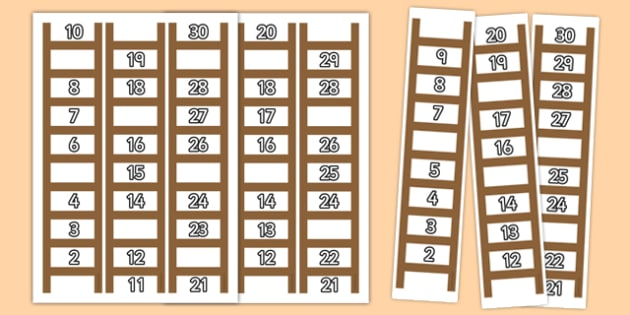 Ladder Missing Number to 30 Worksheets ladder missing number – Missing Number Worksheets