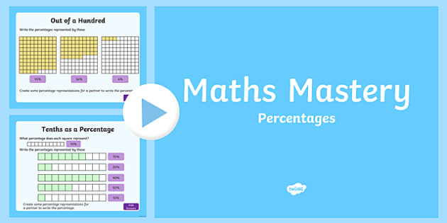 Year 5, Fractions and Decimals, Percentages Maths Mastery PowerPoint