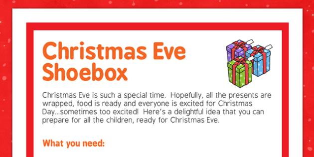 Christmas Eve Shoebox - christmas eve, shoebox, christmas, shoe, box