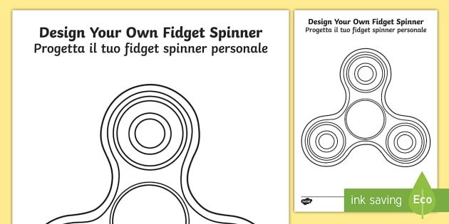 design your own fidget spinner worksheet activity sheet