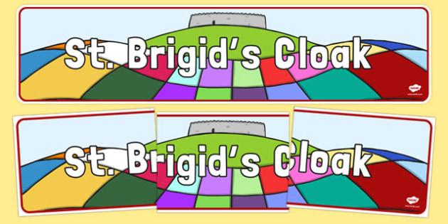 Saint Brigid's Cloak Display Banner - saint brigid, irish history, ireland, saint, patron, display, banner