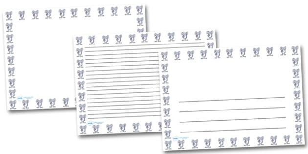 Easter Bunny Landscape Page Borders- Landscape Page Borders - Page border, border, writing template, writing aid, writing frame, a4 border, template, templates, landscape