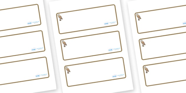 Owl Themed Editable Drawer-Peg-Name Labels (Blank) - Themed Classroom Label Templates, Resource Labels, Name Labels, Editable Labels, Drawer Labels, Coat Peg Labels, Peg Label, KS1 Labels, Foundation Labels, Foundation Stage Labels, Teaching Labels