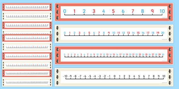 Beatrix Potter - The Tale of the Pie and the Patty-Pan Number Lines Pack up to 30 - beatrix potter, pie, patty pan, number lines, pack, up to, 30