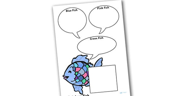 Role on the Wall Worksheet to Support Teaching on The Rainbow Fish - the rainbow fish, role on the wall, worksheets, the rainbow fish worksheet, role on the wall worksheet