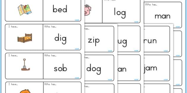 CVC Loop Cards - CVC, loop cards, CVC cards, literacy, english