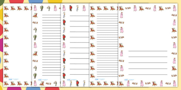 Page Borders to Support Teaching on Fantastic Mr Fox - Fantastic Mr Fox, fantastic mr fox page borders, fantastic mr fox borders, roald dahl page borders, roald dahl