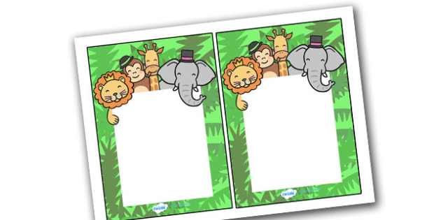 Editable Note From Teacher (Jungle Themed) - editable note from teacher, jungle themed, note from teacher, notes, note, comment, parent, teacher's, editable, jungle
