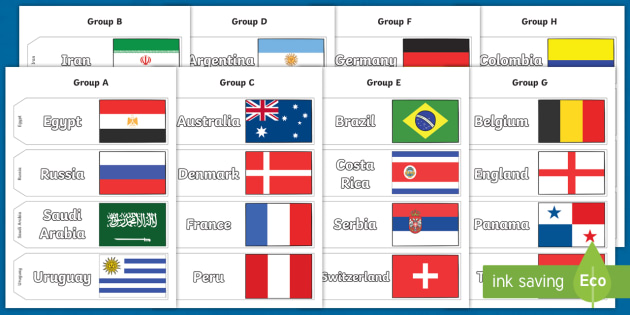World Cup Country Name And Flags Paperchain Teacher Made