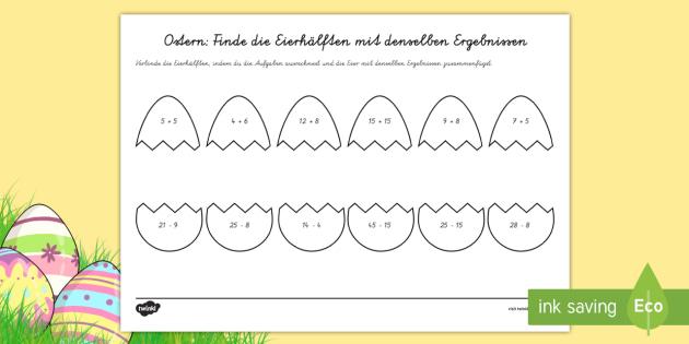 Ziemlich Ostern Mathe Arbeitsblatt KS3 Bilder - Arbeitsblätter für ...