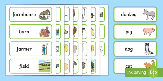 Farm Word Cards - Farm Shop Role Play, Word cards, Word Card, flashcard, flashcards,farm shop resources, farm, milk, cheese, eggs, till, animals, meat, cheese, living things, butcher, role play, display, poster