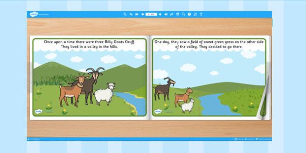 The Three Billy Goats Gruff eBook - books, interactive books