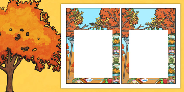 Autumn Editable Notes to Teacher - praise notes, teacher notes