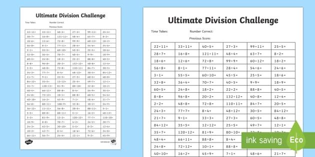 Ks2 ultimate division challenge ks2 ultimate challenge - English 1st division table ...
