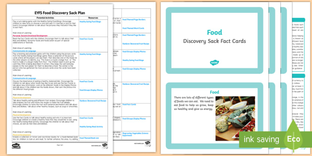 EYFS Food Discovery Sack - EYFS, food, discovery, discover