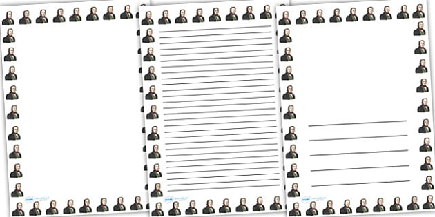 Isambard Kingdom Brunel Page Borders - isambard kingdom brunel, brunel, page borders, writing frames, lined pages, writing guide, writing template, writing