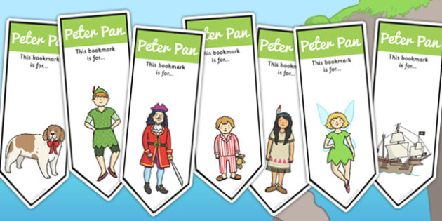 Peter Pan Editable Bookmarks - Peter, Pan, Book, Story, Bookmark