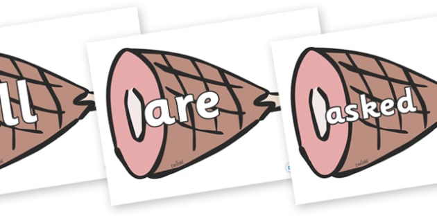 Tricky Words on Hams - Tricky words, DfES Letters and Sounds, Letters and sounds, display, words