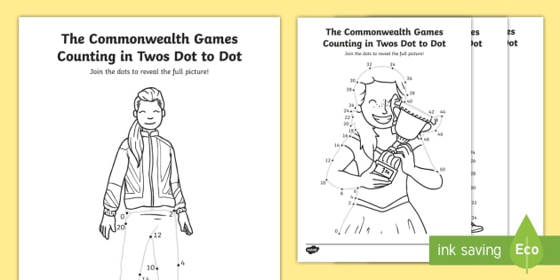 * NEW * KS1 The Commonwealth Games Counting In Twos Dot To