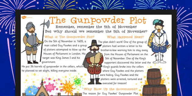 The Gunpowder Plot Large Information Poster KS2 - gunpowder, plot