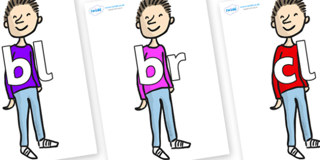 Initial Letter Blends on Michael to Support Teaching on Matilda - Initial Letters, initial letter, letter blend, letter blends, consonant, consonants, digraph, trigraph, literacy, alphabet, letters, foundation stage literacy