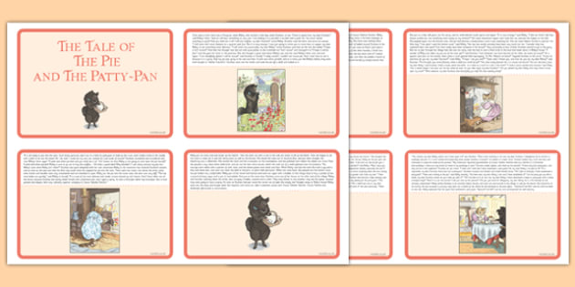 Beatrix Potter - The Tale of the Pie and the Patty-Pan Story Cards - beatrix potter, pie, patty pan, story cards