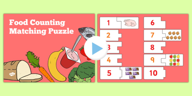 Food Themed Counting Puzzle Activity Presentation - activities