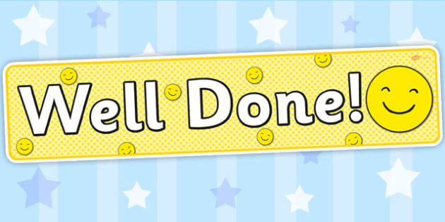 Well Done Smiley Face Display Banner - banners, displays, faces