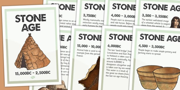 Stone Age Timeline Posters - stone age, history, timeline, poster