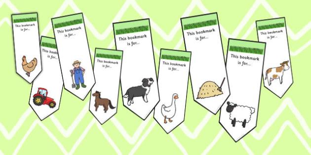 Farm Themed Bookmarks - farm, bookmark, reading, read, books