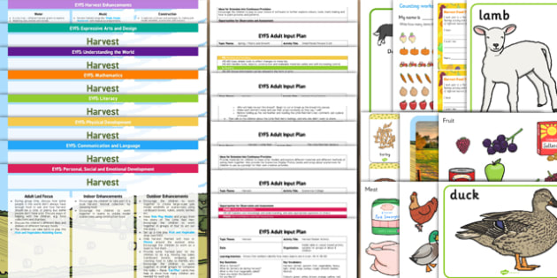 EYFS Harvest Lesson Plan Enhancement Ideas and Resources Pack - ideas, information early years, progress, improvement, learning, planning, resources, planning