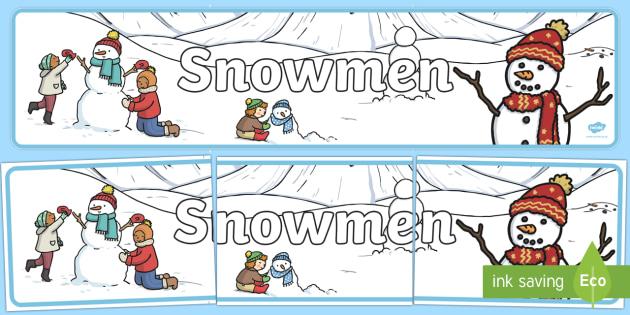 Snowmen Banner