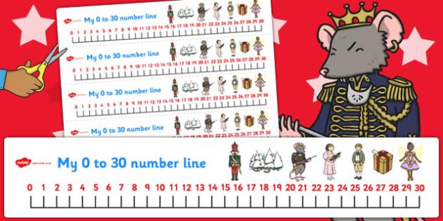 The Nutcracker Number Lines 0-30 - nutcracker, number line, 0-30
