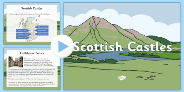Scottish Castles PowerPoint - First Level, Social Studies, Scottish history, Scottish Castles