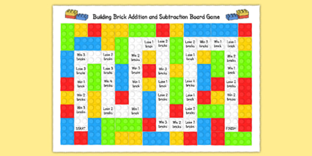 Toy Character Addition and Subtraction Board Game - games, board games