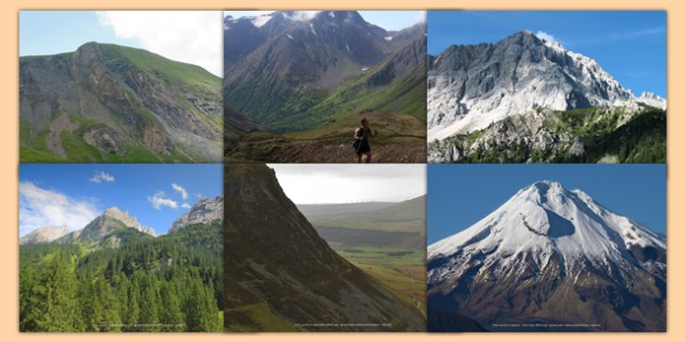 Magnificent Mountains Photo Clip Art Pack - mountains, photo, clip art
