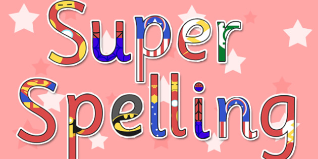 Super Spelling Display Lettering Cut Outs - super spelling, display