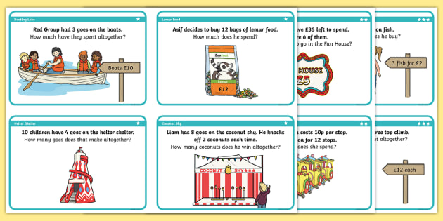 Class Trip Multiplication Differentiated Worksheet / Activity