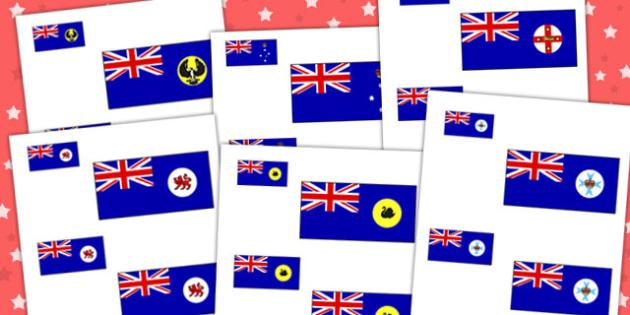 Australia States Flag Size Ordering - australia, size, ordering