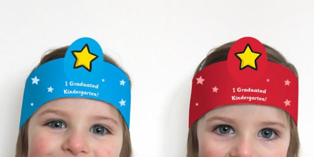 Kindergarten Graduation Role Play Headbands - End of school