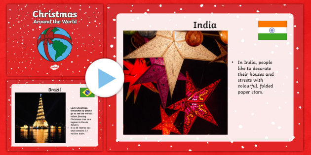 EYFS Christmas Around the World PowerPoint - eyfs, christmas, around the world, powerpoint