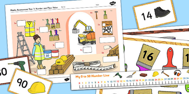 Year 1 Maths Assessment: Number and Place Value Term 1 - assessment, year 1, maths, number, place value, term 1