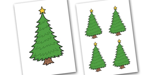 Christmas Trees Editable - christmas, trees, editable, display