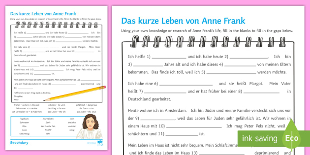 Diary of a Young Girl: Anne Frank | TeacherLingo.com