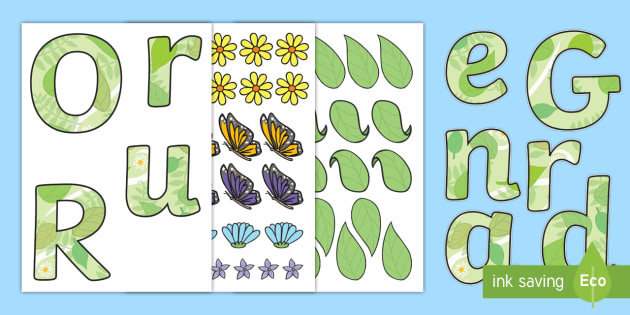 Our Reading Garden Paper Saving Display Lettering - Read, Letters