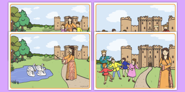 The Children of Lir Story Sequencing - Irish history, Irish story, Irish myth, Irish legends, The Children Of Lir, sequencing cards